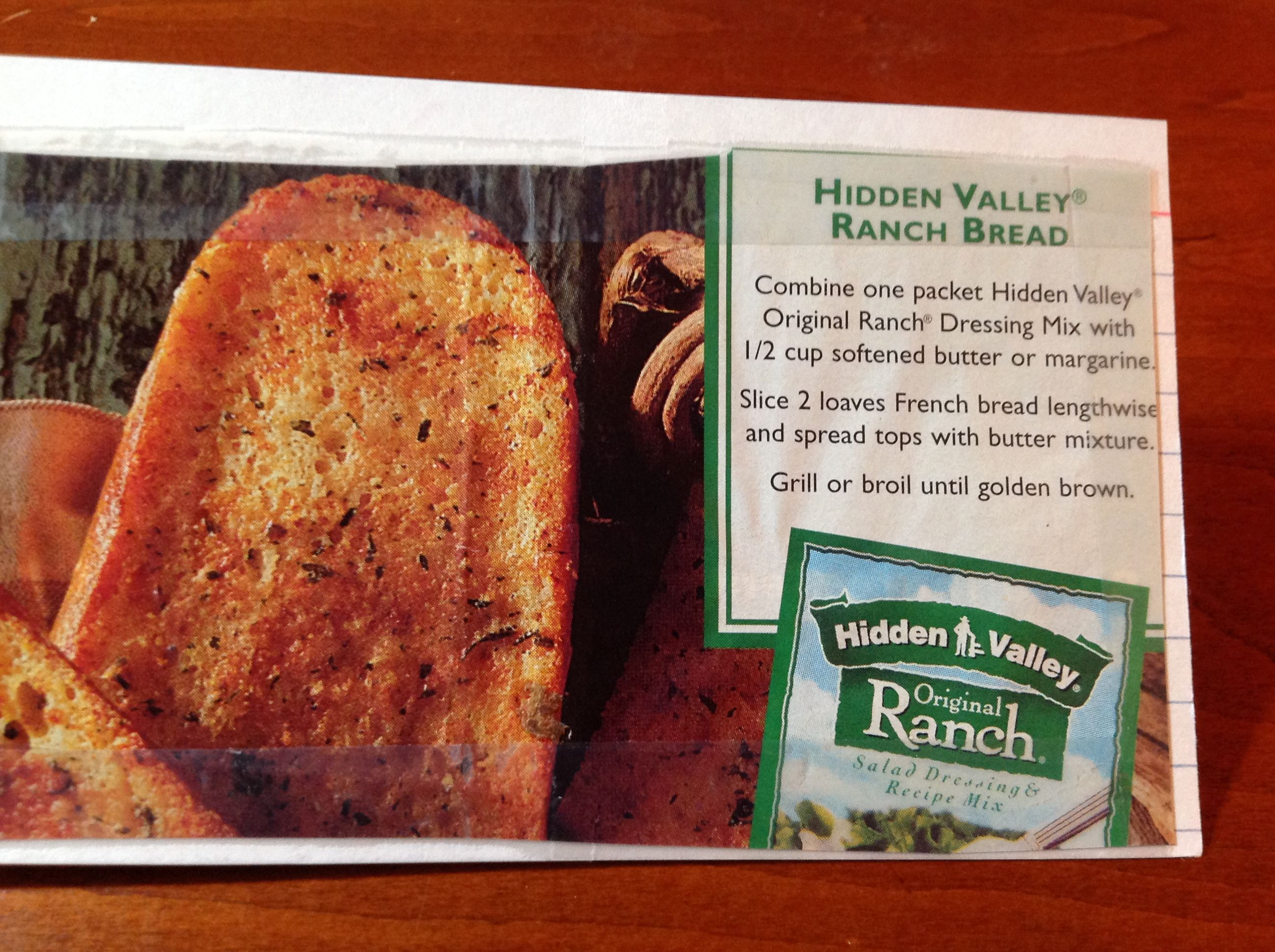 HIDDEN VALLEY RANCH Bread