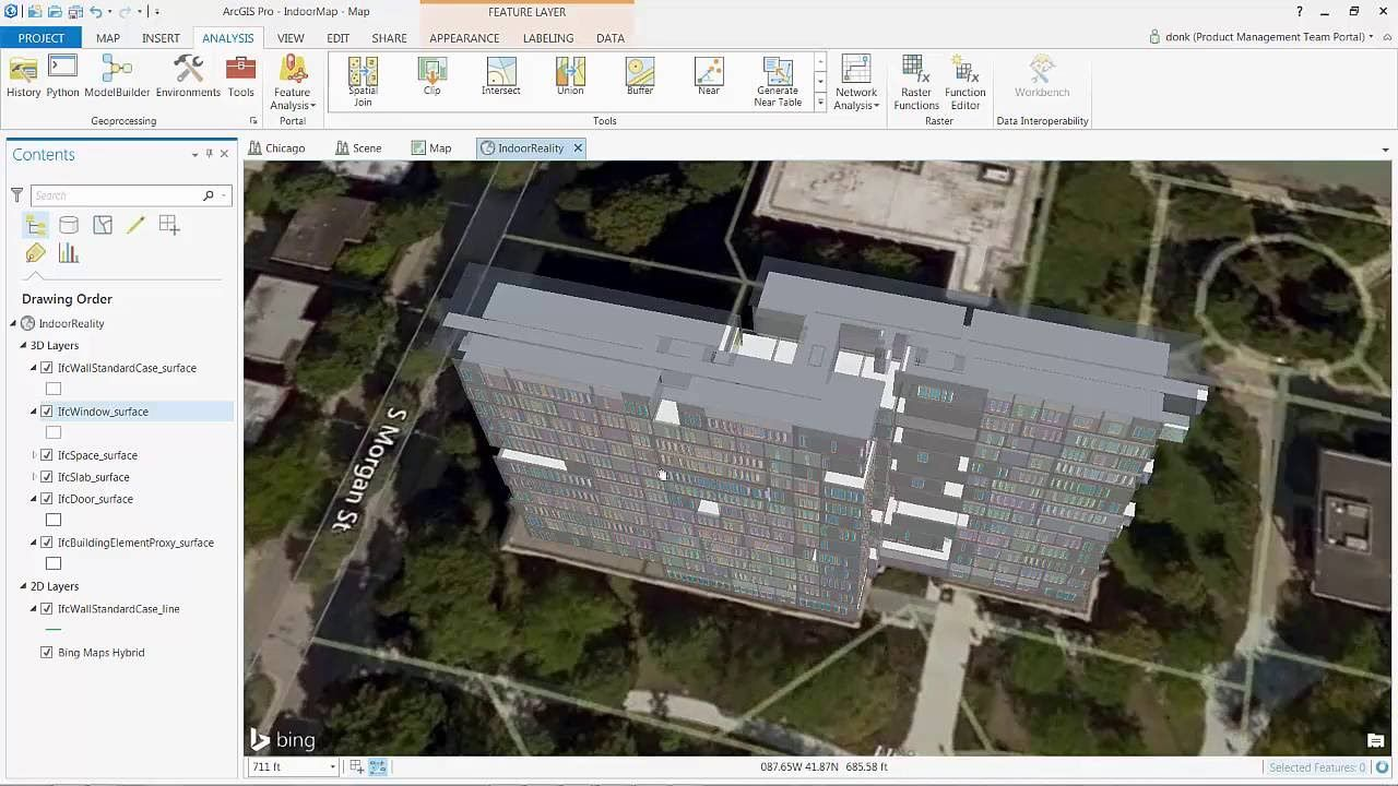 Georeferencing REVIT BIM IFC Data in ArcGIS Pro Bim