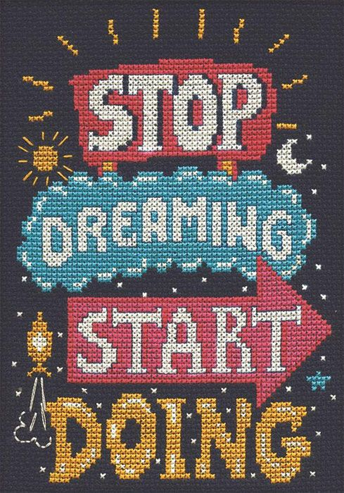 Cross Stitch Style Big Stitch Kit 4//pkg-dreamer