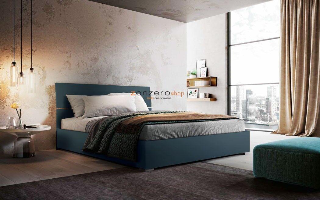 Photo of 419 euro letto contenitore in finitura petrolio www.zenzeroshop.i …