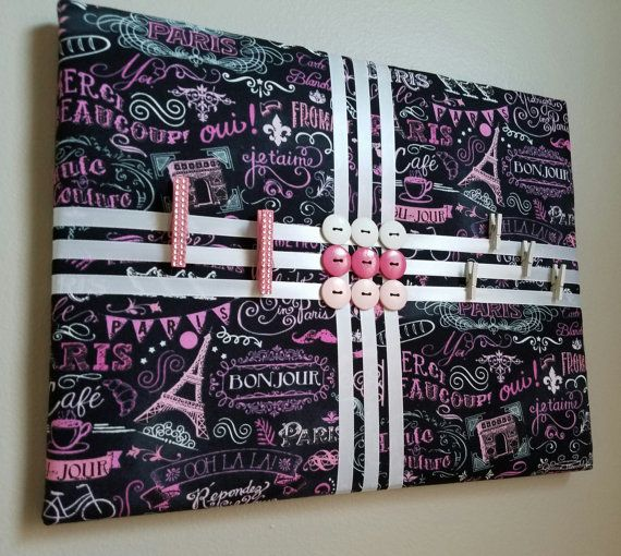 Paris Themed Memo Board Memory Board Vision Board By