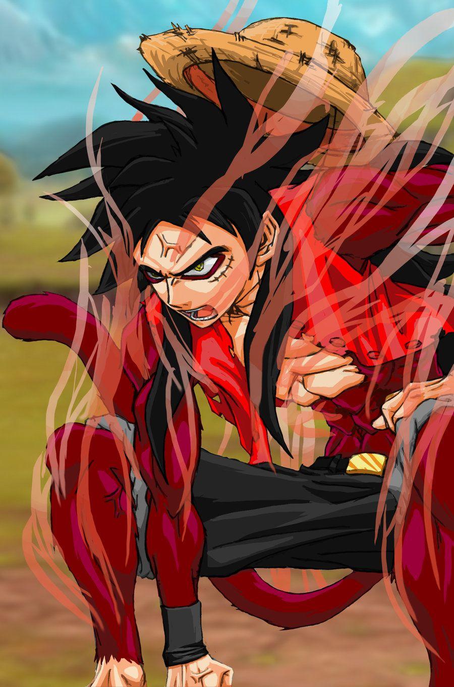 Goku Luffy Fusion One Piece and Dragon Ball. Easily one