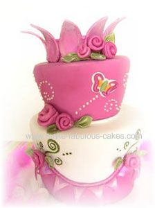 cute cakes and ideas for bows and roses