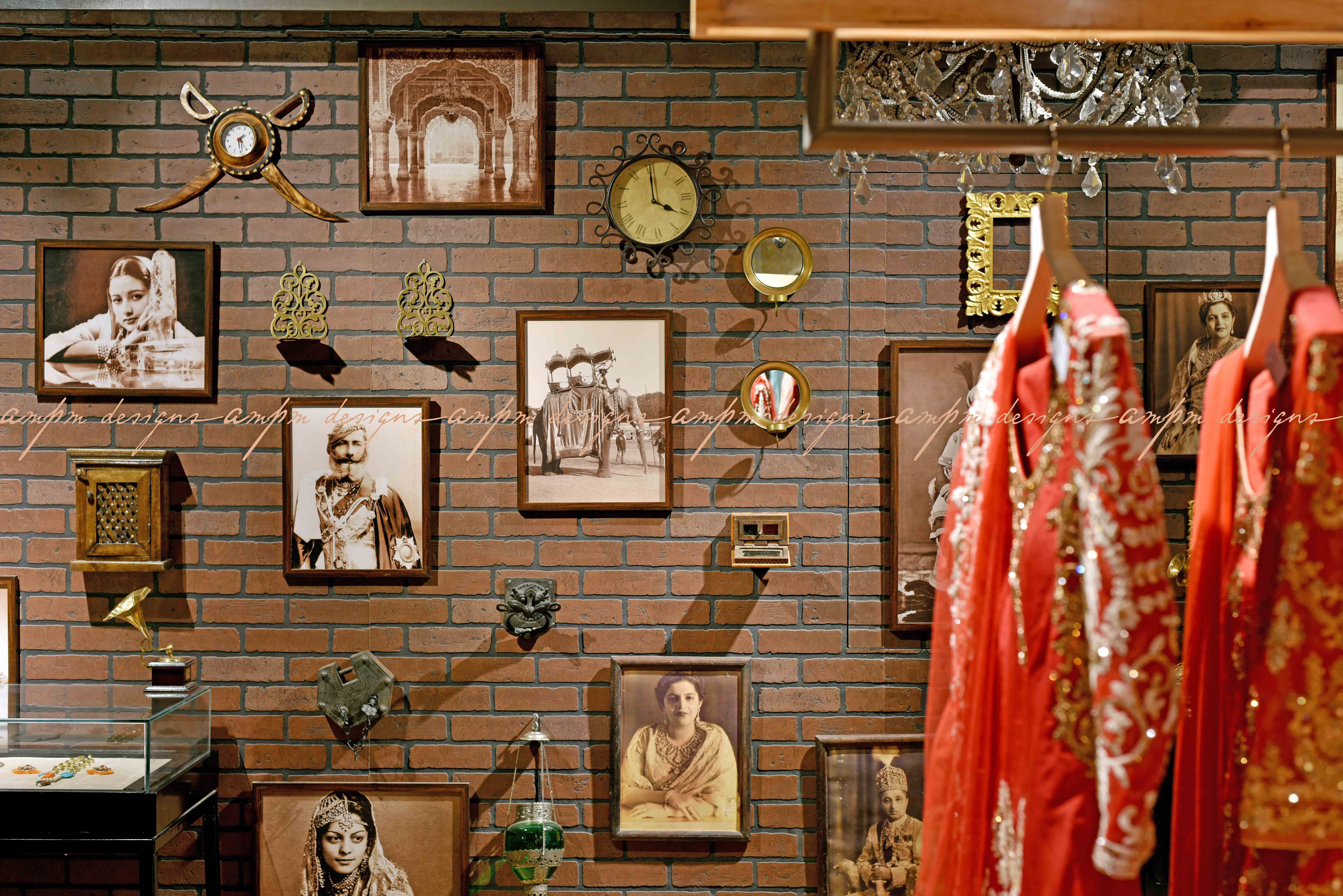 Display Wall Brick Wall Accesesories Indian Design Luxury