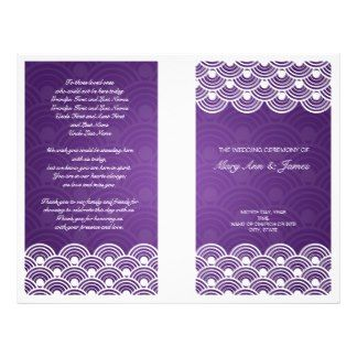 Elegant Wedding Purple Program Templates  Family Wedding Flyers