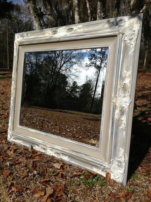 Paint Nanny\'s old mirror with Annie Sloan Chalk Paint | DIY at home ...