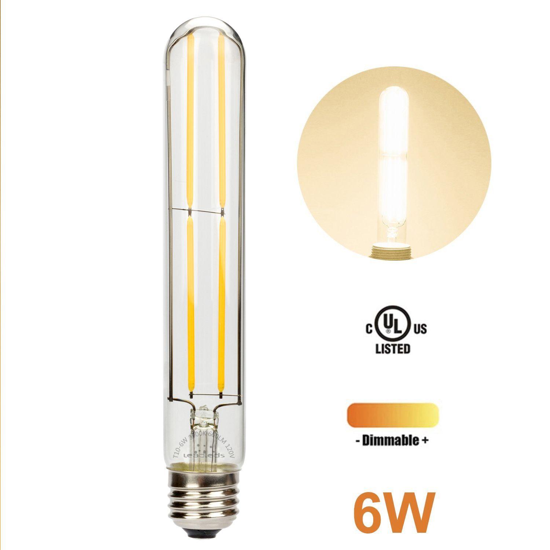 Led Filament Edison Bulb Long Tube Design 6w Incandescent Bulb Soft White Light Night Light Bulbs Edison Bulb Bulb