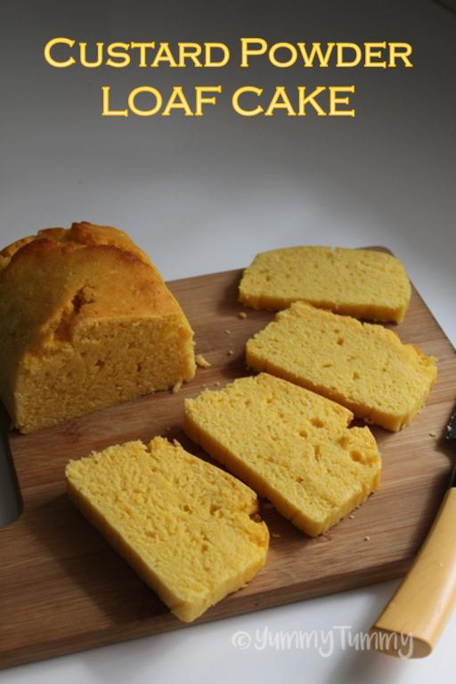 Custard Powder Loaf Cake