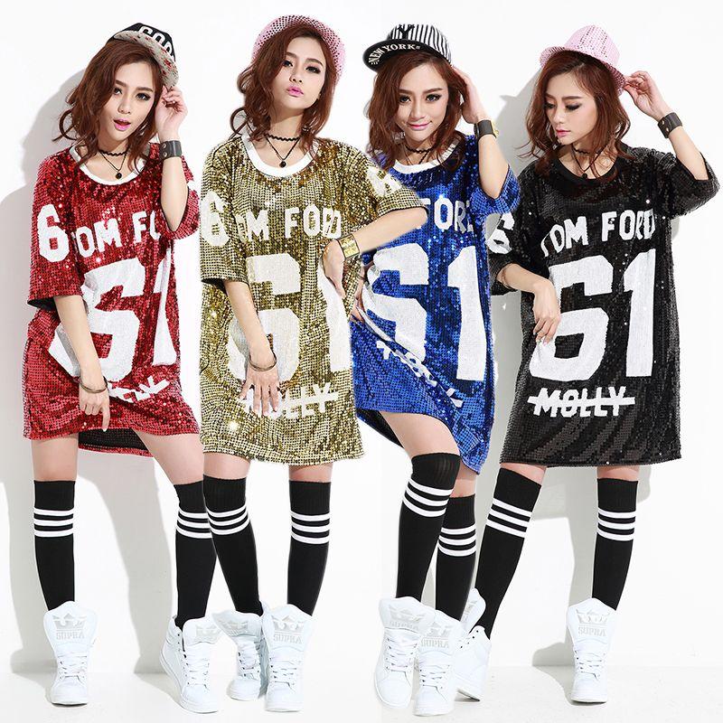 Find More T-Shirts Information about New Summer Women T Shirt Hip Hop Shirt  Sequins da0f7a7a1189
