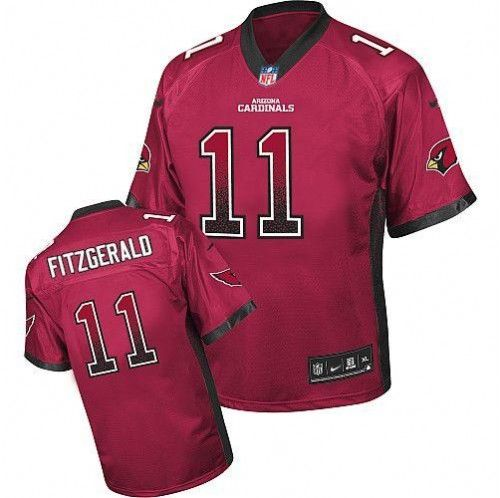 Nike Arizona Cardinals  11 Larry Fitzgerald Red Team Color Men s Stitched  NFL Elite Drift Fashion 3ba2e7966