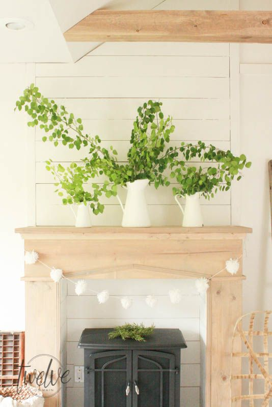 Diy Faux Farmhouse Style Fireplace And Mantel Faux Fireplace Diy Faux Fireplace Mantels Faux Fireplace