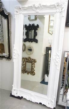 Balmoral White Ornate Mirror Traditional Mirrors Mirror Wall