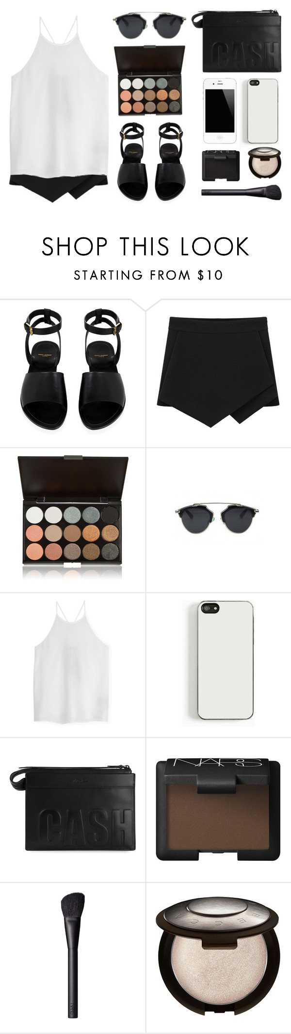"""Simple"" by baludna ❤ liked on Polyvore featuring Yves Saint Laurent, TIBI, Zero Gravity, 3.1 Phillip Lim, NARS Cosmetics and Becca"