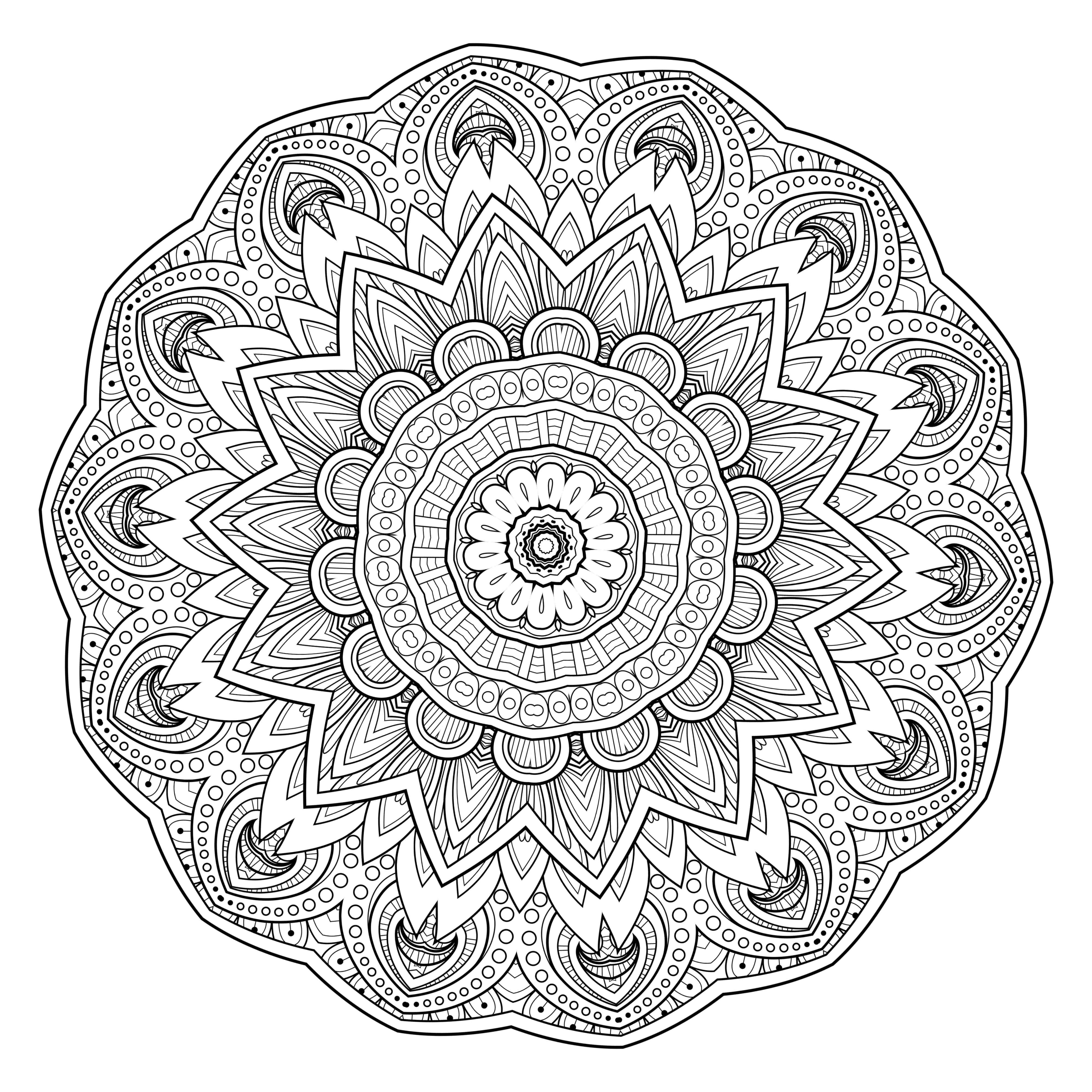 Free printable abstract coloring pages for adults - 5 Free Printable Coloring Pages Mandala Templates