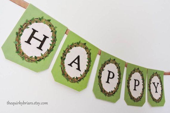 Woodland Decor Rustic Garden Country Themed Happy