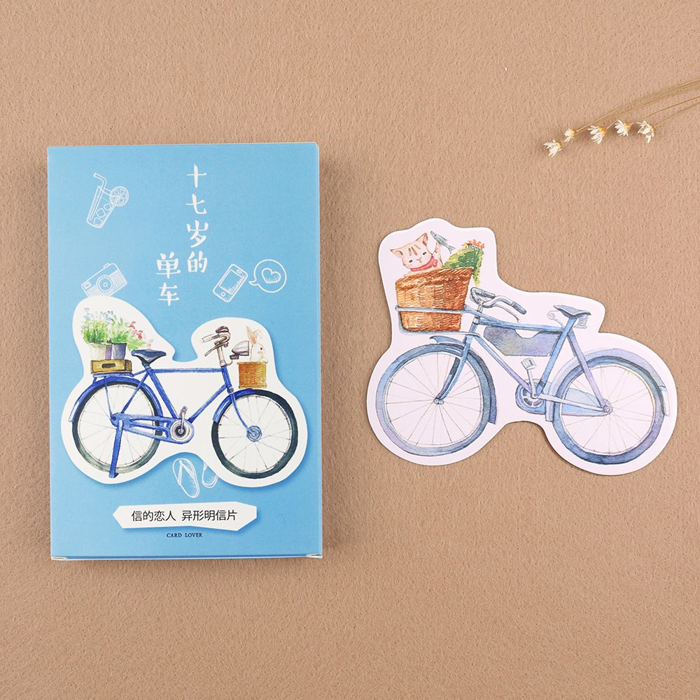 30pcs Pack New My 17 Years Bike Greeting Card Postcard Birthday