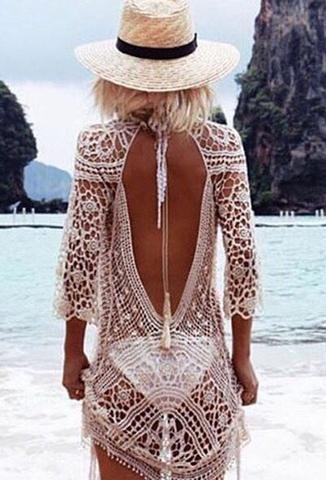 design de qualité 160f5 8bd5d Vêtements Robe de Plage Blanc Tunique Longue Chic | fashion ...