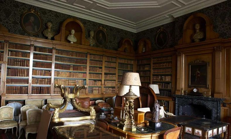 Old Victorian Library Stately Homes Old English Mansion