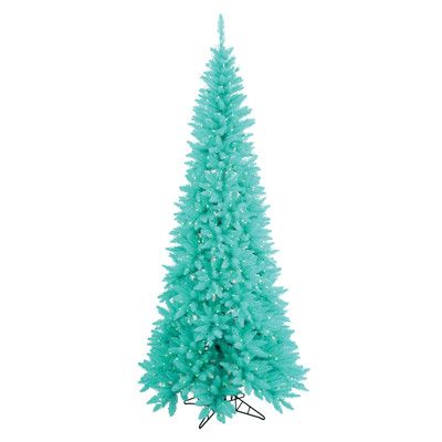 The Holiday Aisle 75\u0027 Aqua Fir Artificial Christmas Tree with 500