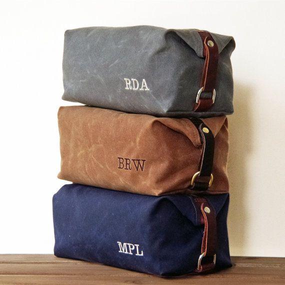 handmade men u0026 39 s dopp kit  gift for him  monogrammed toiletry travel bag  personalized groomsmen