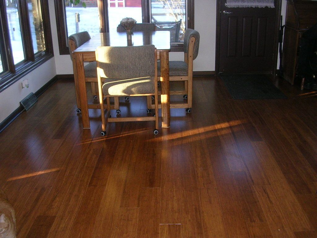 click engineered in bamboo t floor hand the home woven flooring strand collection decorators scraped p x l depot brown w