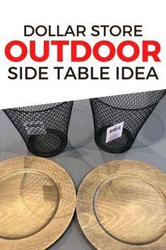 DIY Dollar Store Side Table Idea Easy Home Decor C