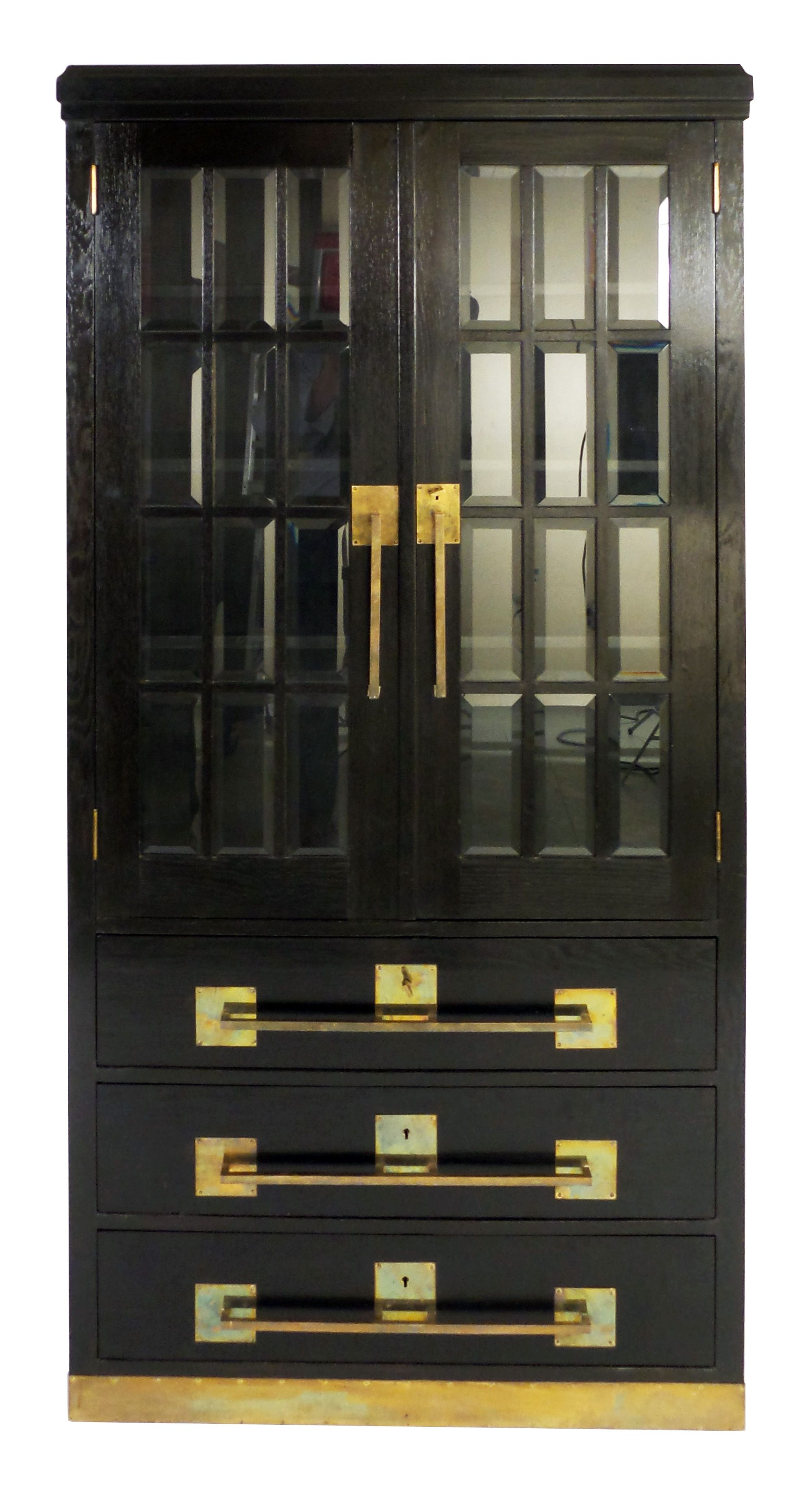 German Jugendstil Glass Door Cabinet Glass Cabinet Doors Glass