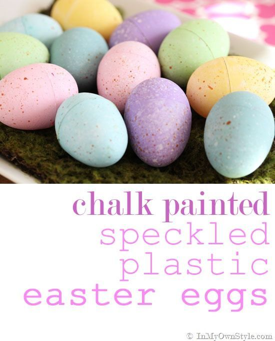 Use your left over furniture paint to make chalk painted Speckled Easter Eggs. Your family and friends will love their unique look!