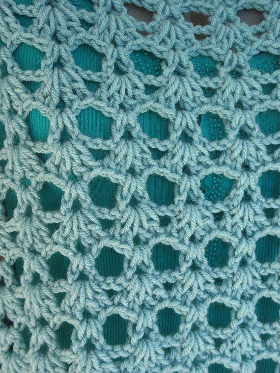 Además Tamaño Crochet encaje Poncho cubrir para mujeres o | Encaje ...