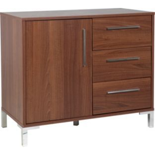 Smaller Sideboard Buy Sienna 1 Door And 3 Drawer Sideboard Walnut Effect At 84