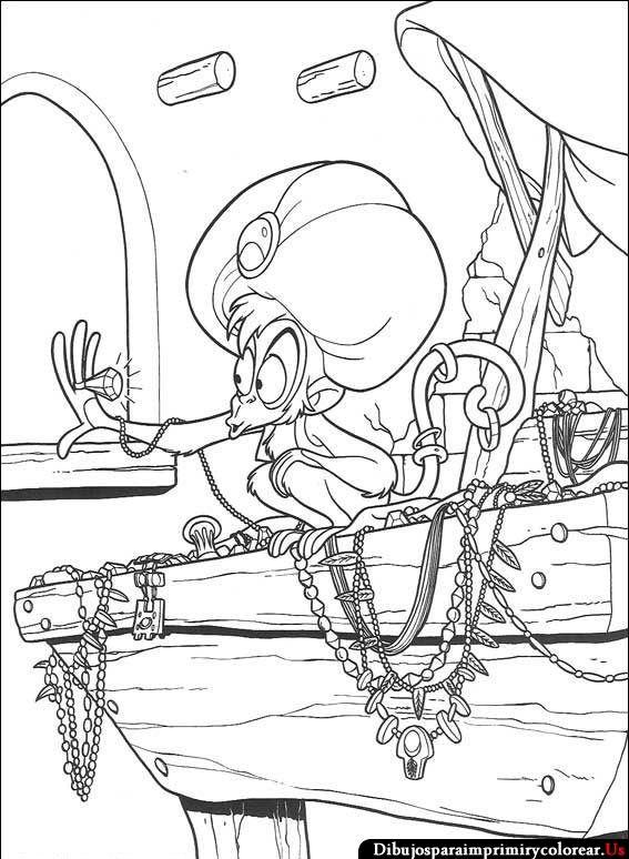 Imagenes de Aladino para Imprimir y Colorear | Aladdin ~ Disney ...