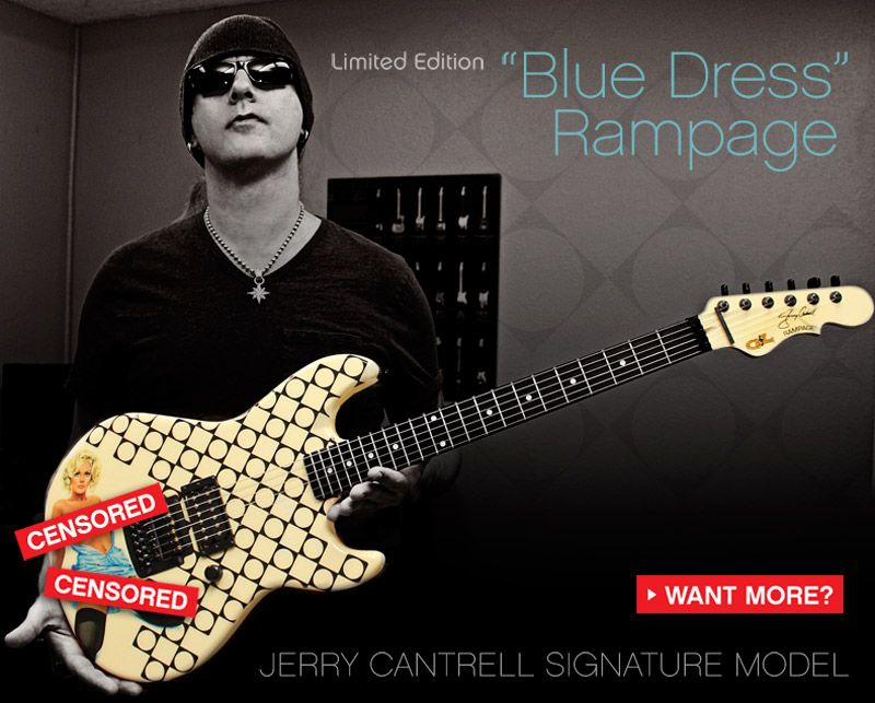 g l jerry cantrell blue dress rampage one word want guitars guitar jerry cantrell g l. Black Bedroom Furniture Sets. Home Design Ideas