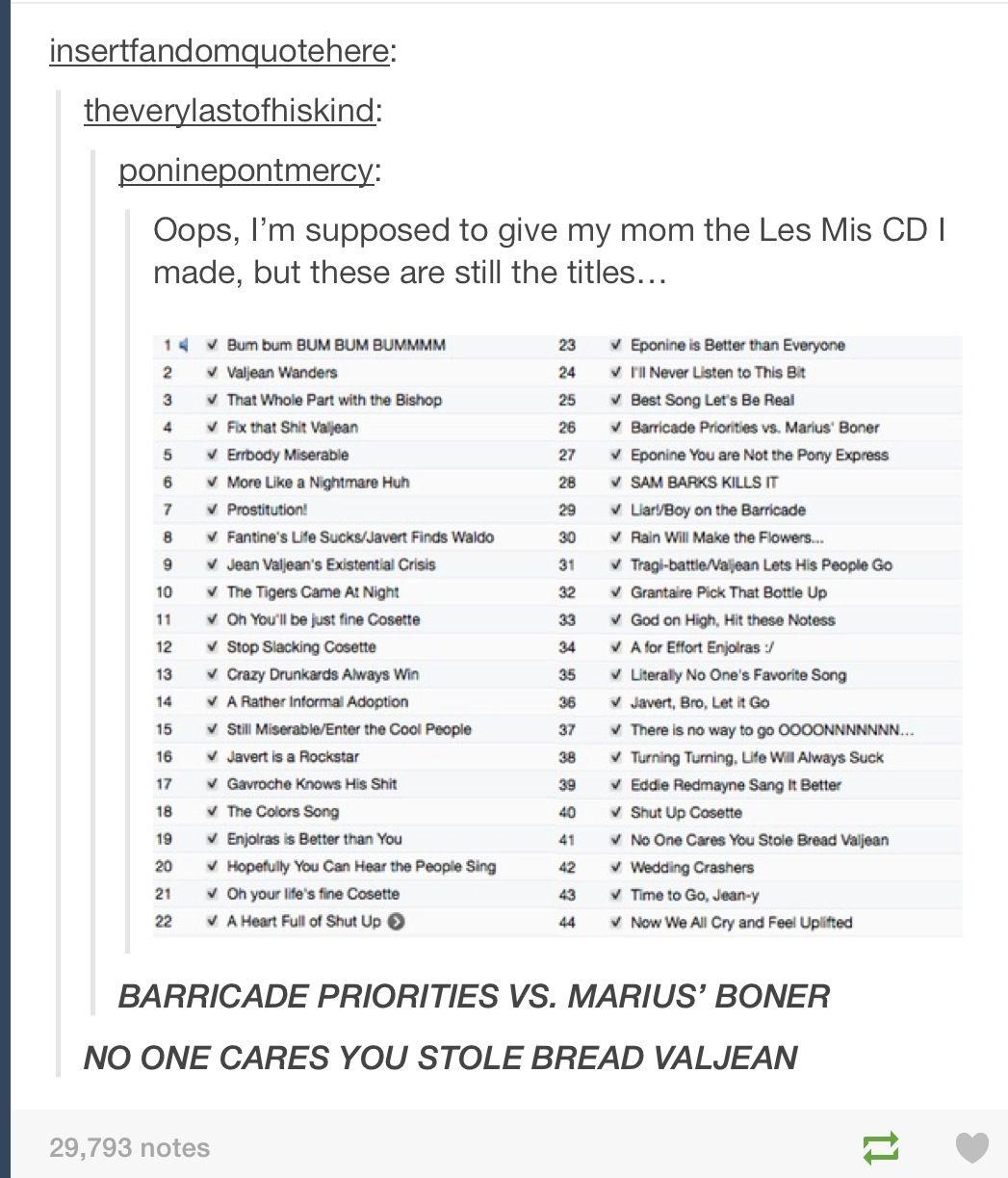 Renaming Les Mis Songs Perfect Les Miserables Musicals