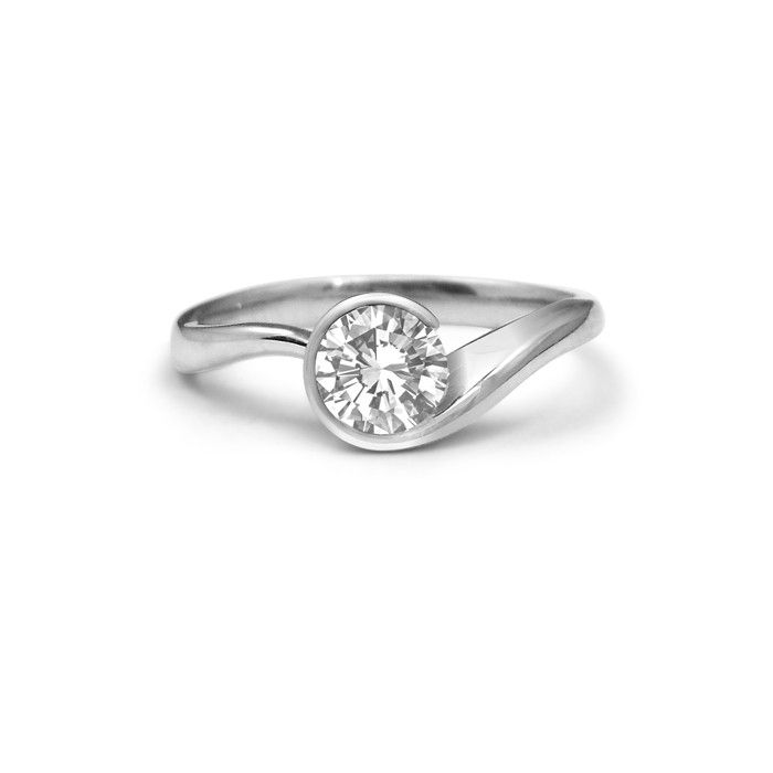 Swirl Diamond Engagement Ring Fashion Pinterest Engagement