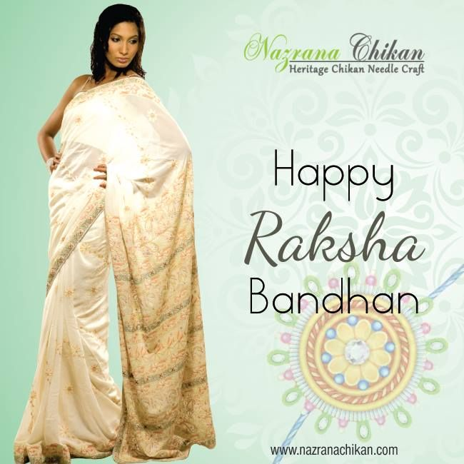 Happy Rakshabandhan to all!  #Festival #Rakhi #Chikankari #Rakshabandhan #Chikan #Nazranachikan