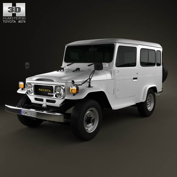 Toyota Land Cruiser (J40) Hard Top 1979 3d model from humster3d.com. Price: $75