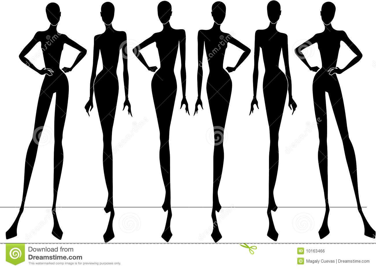 Fashion Show Silhouettes Stock Photo - Image: 10176910 ...