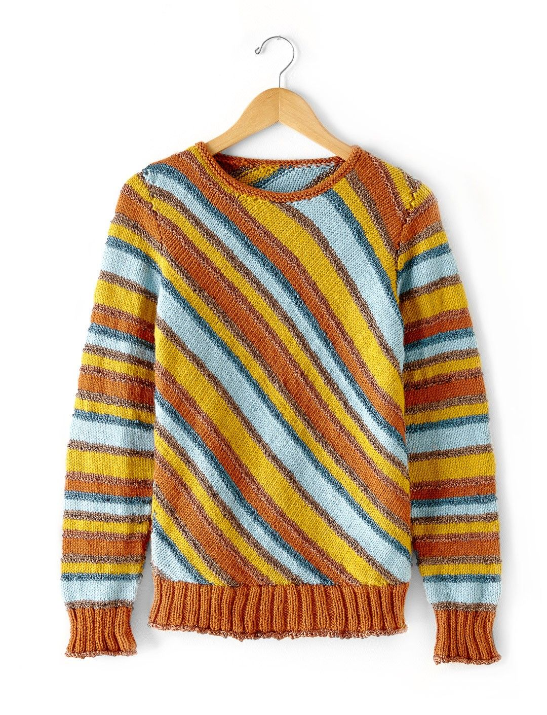 Diagonal Stripes Sweater | Knit in a unique mix of traditional ...
