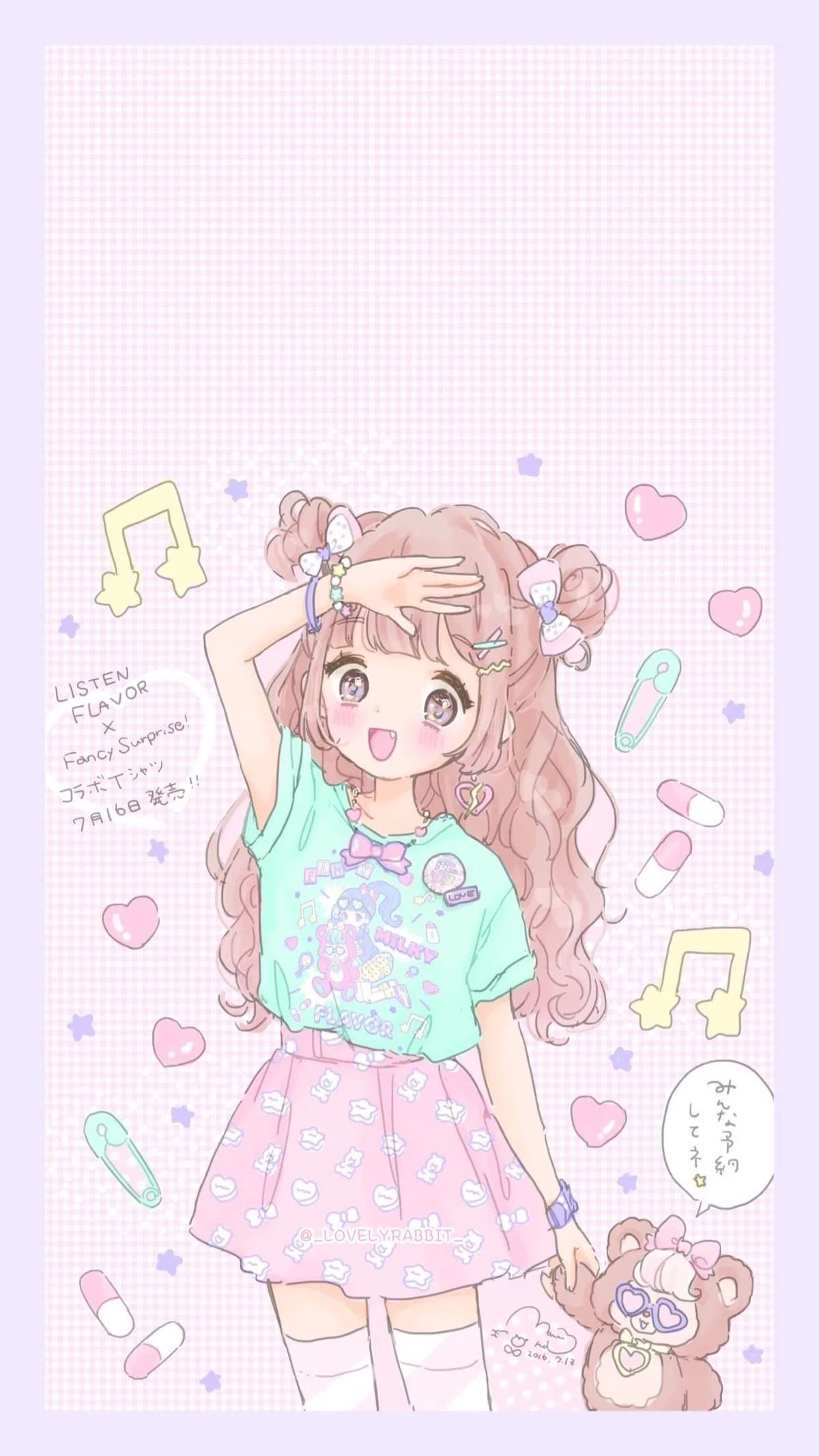 Pastel Anime Cute Phone Wallpapers Cute Anime Wallpaper Kawaii Wallpaper Kawaii Anime