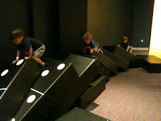 Dominoes!     PLAY exhibit at Orlando Science Center
