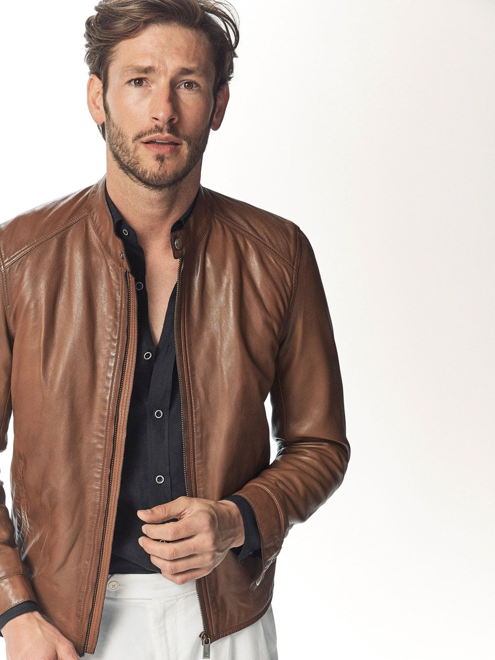 a89640510 Autumn Spring summer 2017 Men´s BROWN NAPPA LEATHER JACKET at ...