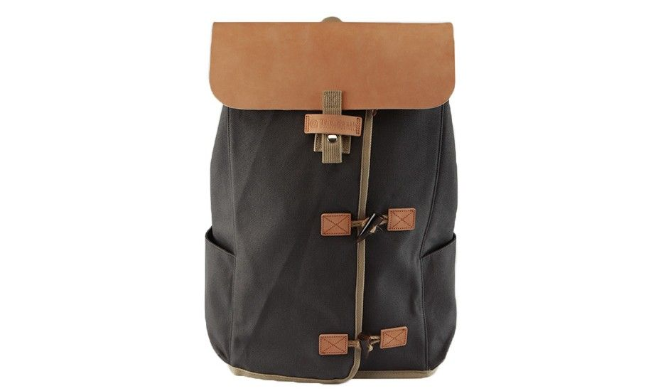 3 Folder Backpack - Black by The Earth