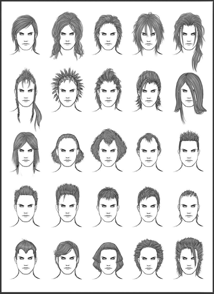Men's Hair - Set 12 - Different Hairstyles for Boys ...