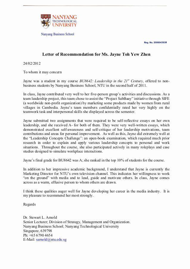 Sample Peer Recommendation Letter Fresh Letter Of Re ...