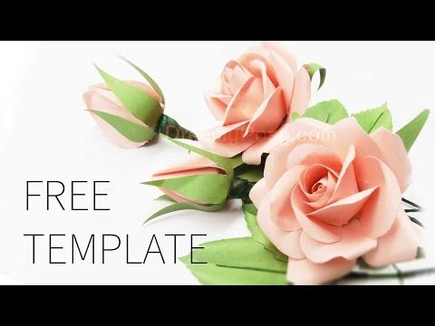 How to make easy paper rose free template template tutorials and how to make rose paper flower with my free template simply making a dozen of these real rose paper will help to brighten your room and anyone wh mightylinksfo