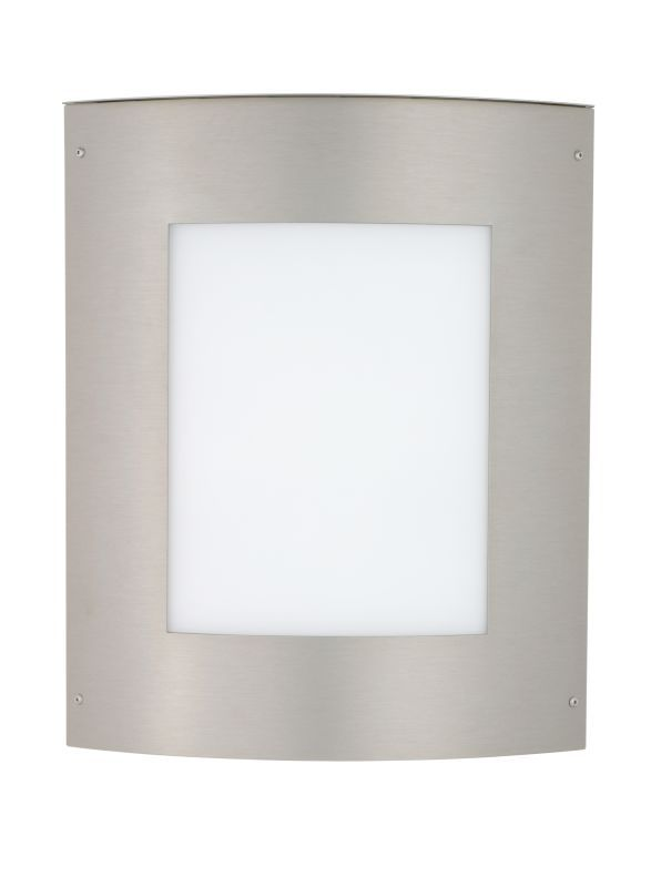 Besa Lighting 109-WA Moto 2 Light ADA Compliant Outdoor Wall Sconce with White A Brushed Aluminum Outdoor Lighting Wall Sconces