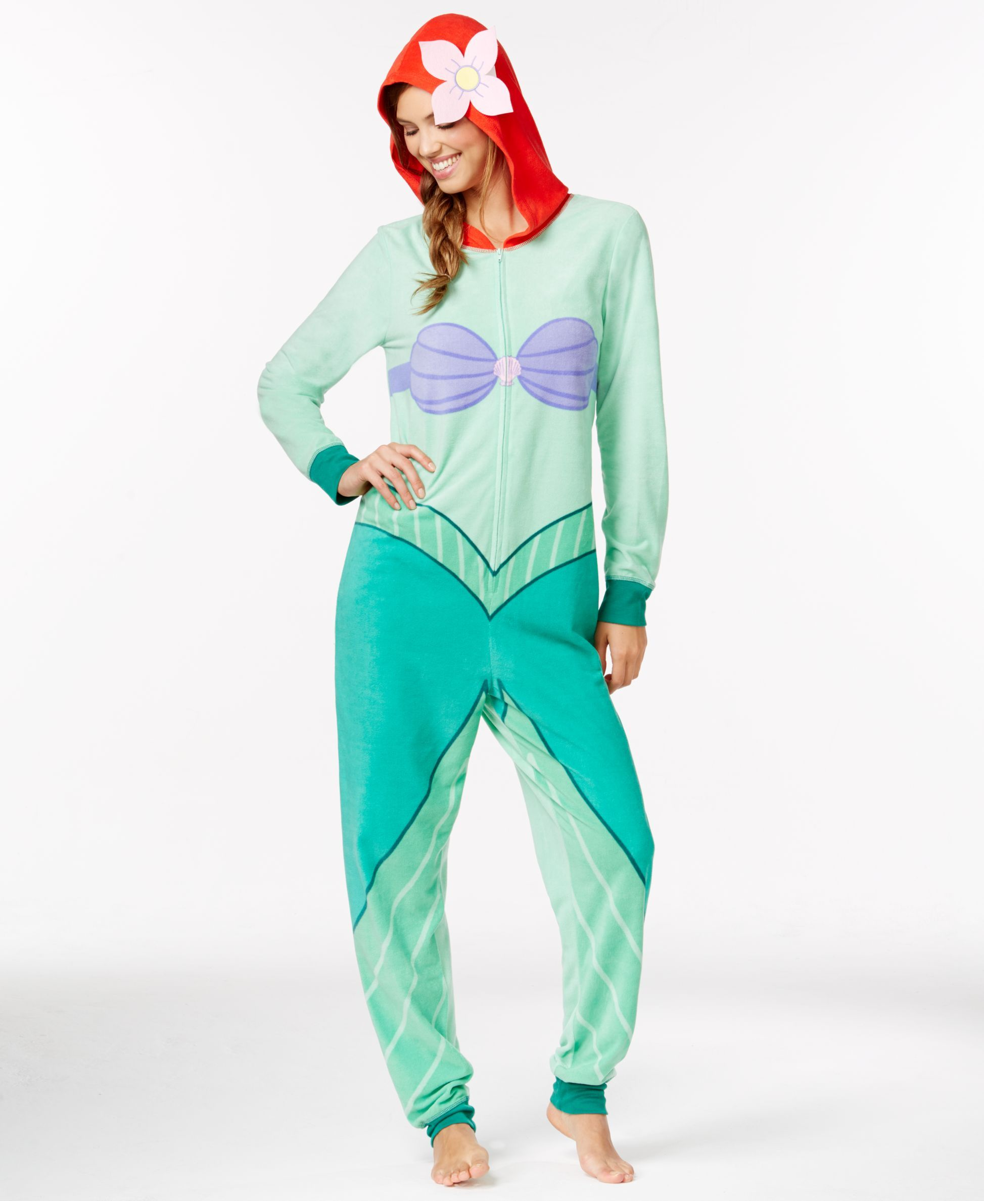 Ariel Adult Hooded Onesie  c19b1a857