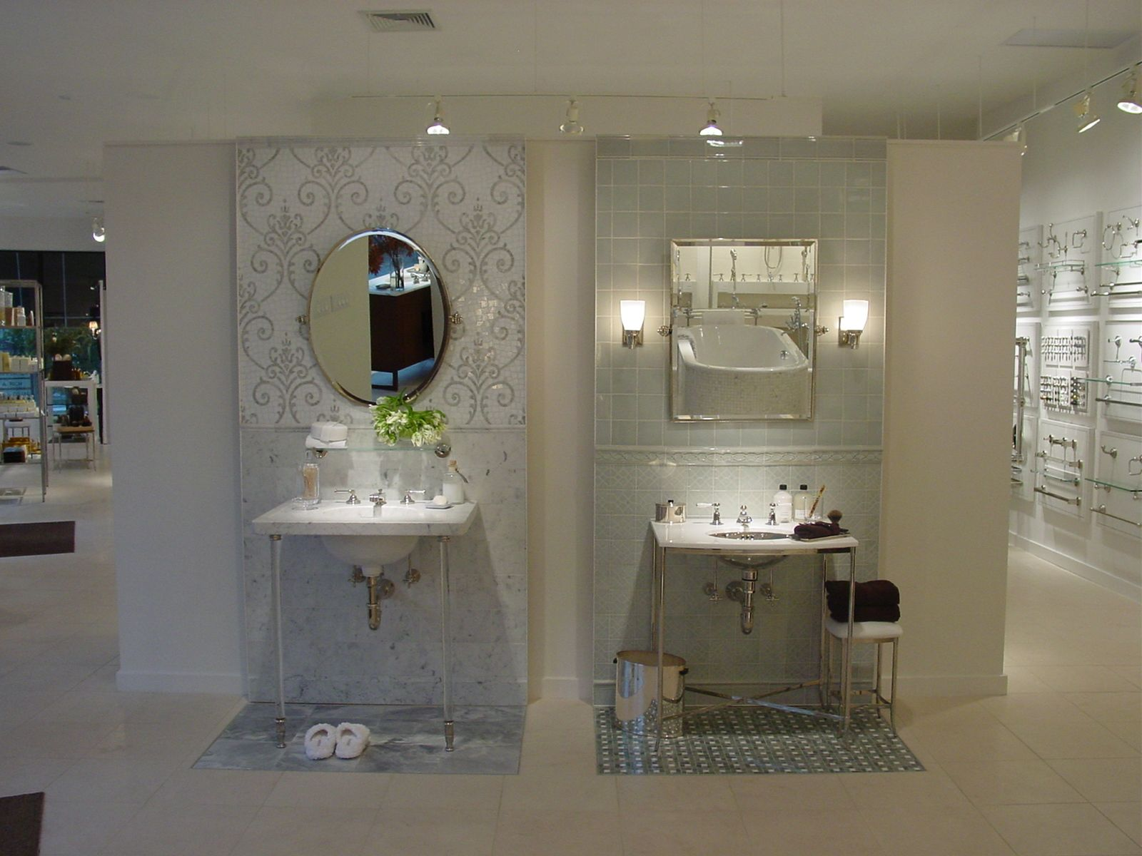 Two Of Our Beautiful Vignettes Bathroom Design Kitchen And Bath Showroom Kitchen Showroom