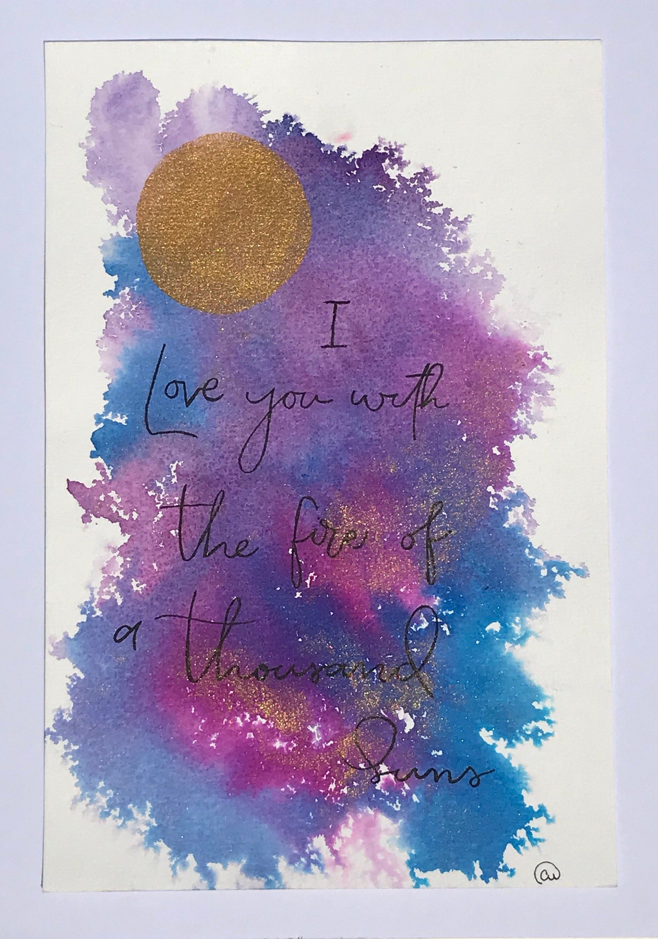 Inspirational Quote  Handwritten  Watercolor Painting