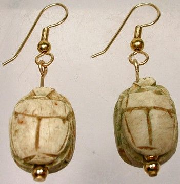 ancient beads egyptian mm egypt faience earrings kavels catawiki with